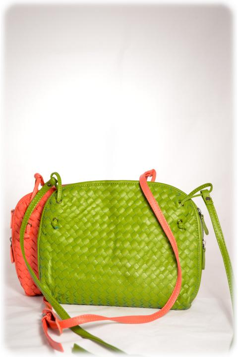 Сумка . Артикул: 10029 green+pink