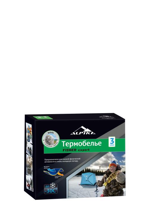 Термобелье (комплект) ALPIKA. Артикул: Термобелье FISHER Expert (-30) 260 гр