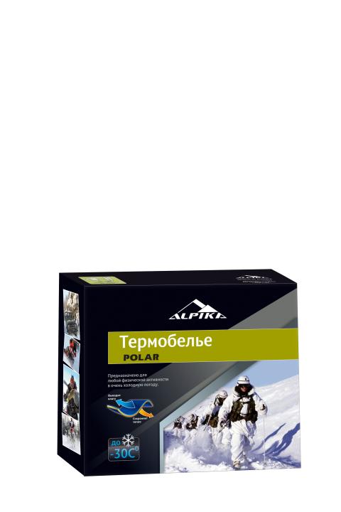 Термобелье (комплект) ALPIKA. Артикул: Термобелье POLAR KHAKI (-30) 280 гр